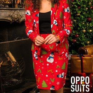 NWT OPPO Suits Christmas Holiday Blazer and Skirt